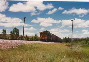 Clouds-Burlington Northern caboose-N. Dakota