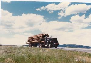 Clouds-Colorado-log truck cooling off-9,000 ft.