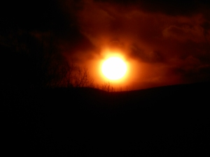 in the darkness before going inside our sun
