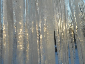 sunset through the icicles...