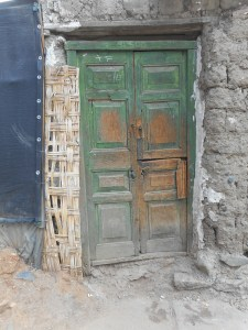 Huaraz door- on a side street so many worlds within our world