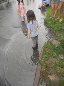 irresistible the pull of a puddle  for a child