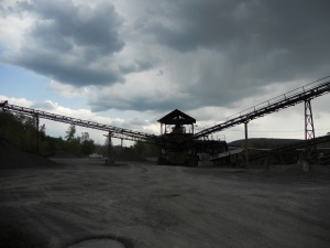 gravel pit- storm blowing in from the west