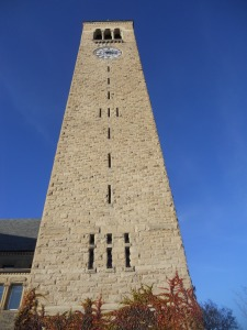 Uris Library Clock tower Cornell University for whom the bell tolls...