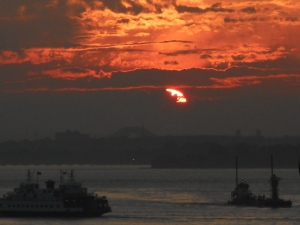 look out from Brooklyn Heights as day ebbs