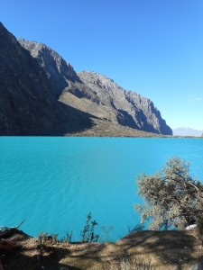 still water  high in the Andes a turquoise to remember