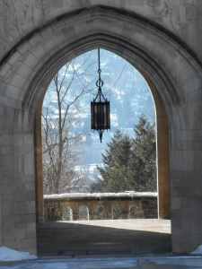 through the law school archway hanging in the balance