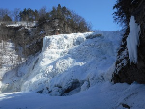 Ithaca Falls in the last days  before the big thaw...
