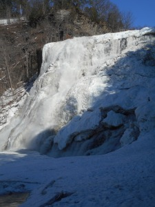 Ithaca Falls a few days into  the thaw