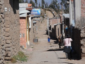 side street in a little mountain town near Colca Canyon