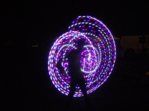 hula hooping at Grassroots to the music...