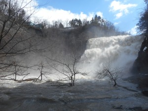 Easter Day the light carried in the falls