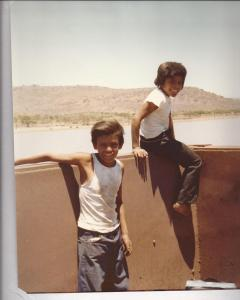 Mexico 1978-freight hopping kids near Guadalajara