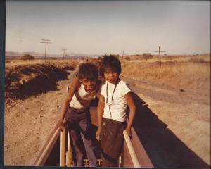 hopping a freight with me two runaways from Los Mochis