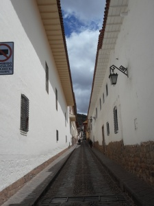 breathless climbing the side streets of Cusco