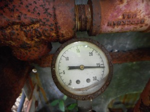 the last pressure setting frozen for all time...