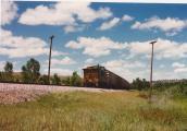 Clouds-Burlington Northern caboose-N. Dakota