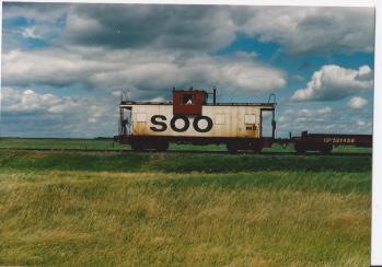 Clouds-Soo Line caboose-N.Dakota