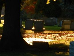cemetery-sun-late-in-the-day-glows-golden