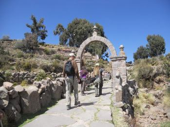 arriving-on-taquile-island-for-a-walk-about-and-visit-to-some-inca-ruins-and-a-stop-for-lunch-and-to-see-a-demonstration-of-local-weaving-before-we-headed-back-to-puno-in-the-afternoon