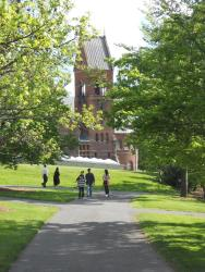 Cornell-Everywhere on campus there were families strolling in the pleasantness of the spring day. 5-25-14