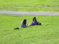 Cornell- Friends in the moment and maybe reflecting on four years arriving at the moment of now... on libe slope 5-25-14