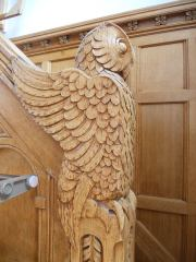 Owl woodwork in the Straight Memorial Room staircases... 5-19-14