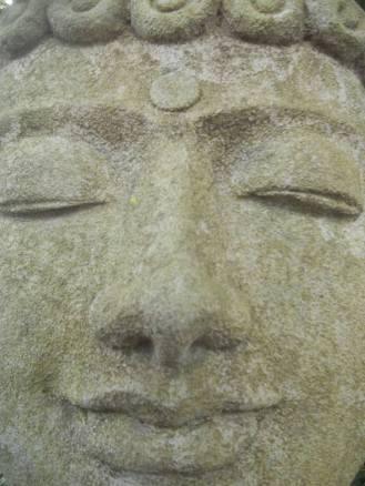 Buddha face smile...