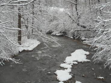 winter on Cascadilla Creek