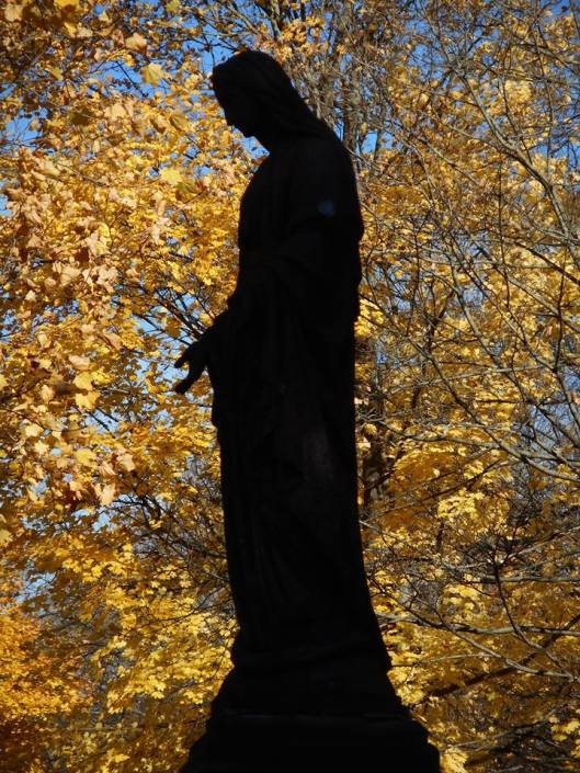 cemetery statue --